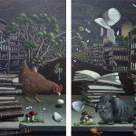 Andrea Zang, Nonkonform, Diptychon 2 x 120 x 100 cm, 2019